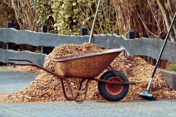 Wheelbarrow landscaping